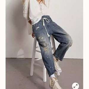 Free People In My Time cargo Jeans SZ S
